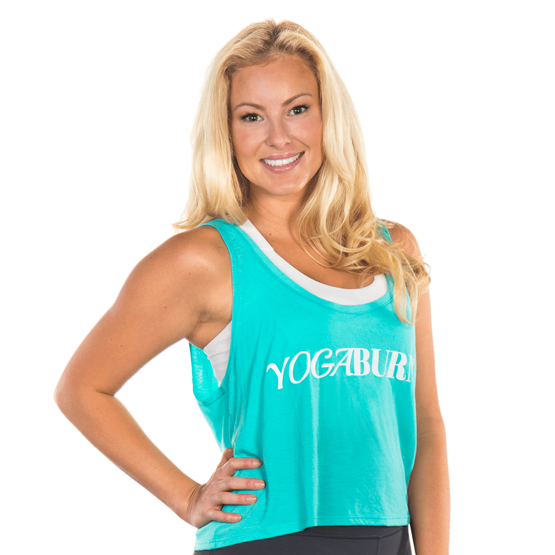 Yoga Burn Sky Blue Tank Tops